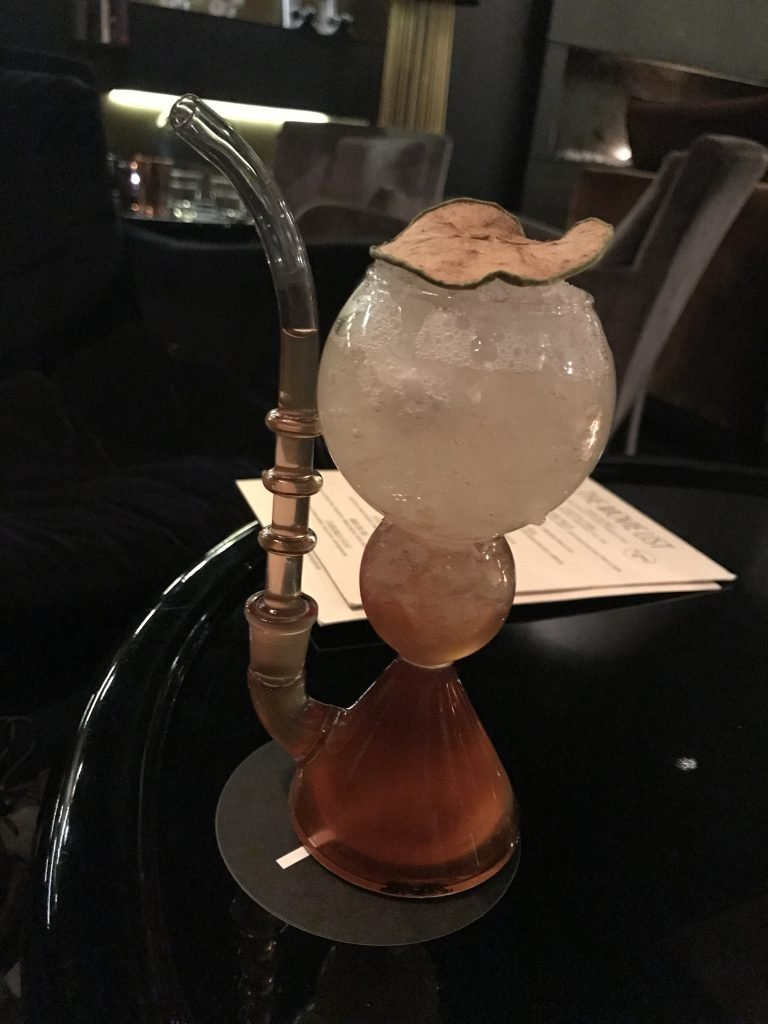 Drink in a pipe glass